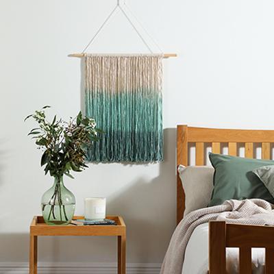DIY ombré dip-dye wall hanging