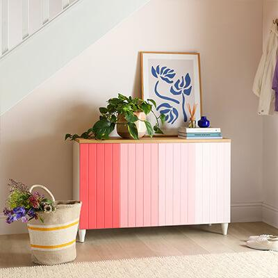 DIY painted ombre sideboard