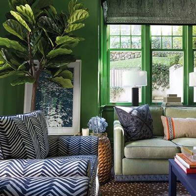 8 of the coolest ideas for an inspiring green living room