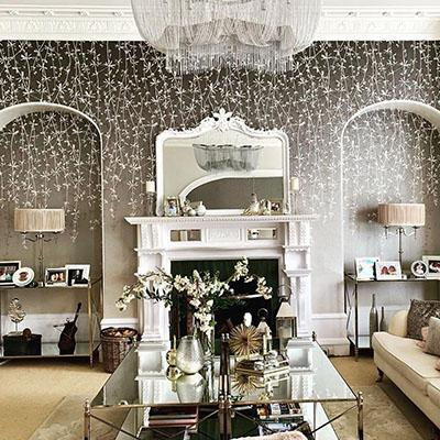 Homes We Love: A glitzy living room in a Victorian home