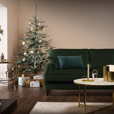 How to style a luxe and cosy Christmas at home