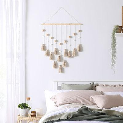 Bring boho chic into your home with this DIY tassel wall hanging