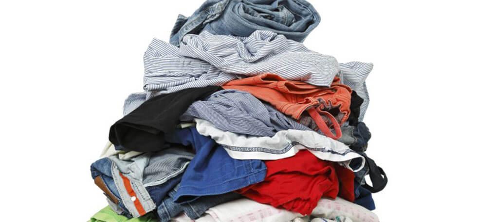 A big pile of clothes