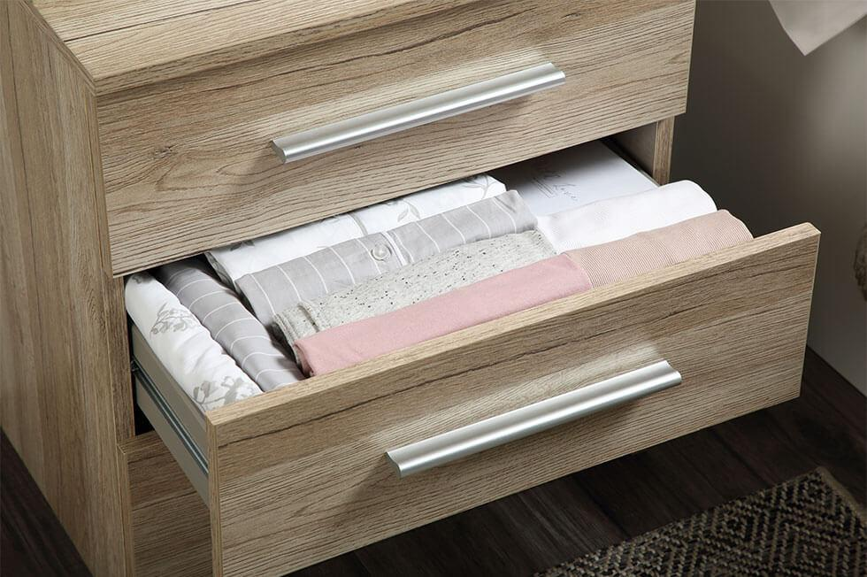 Rauch drawer with neatly folded clothes