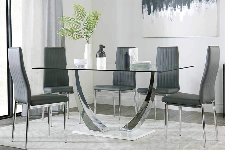 Glass Dining Table Chairs Glass Dining Sets Furniture And Choice