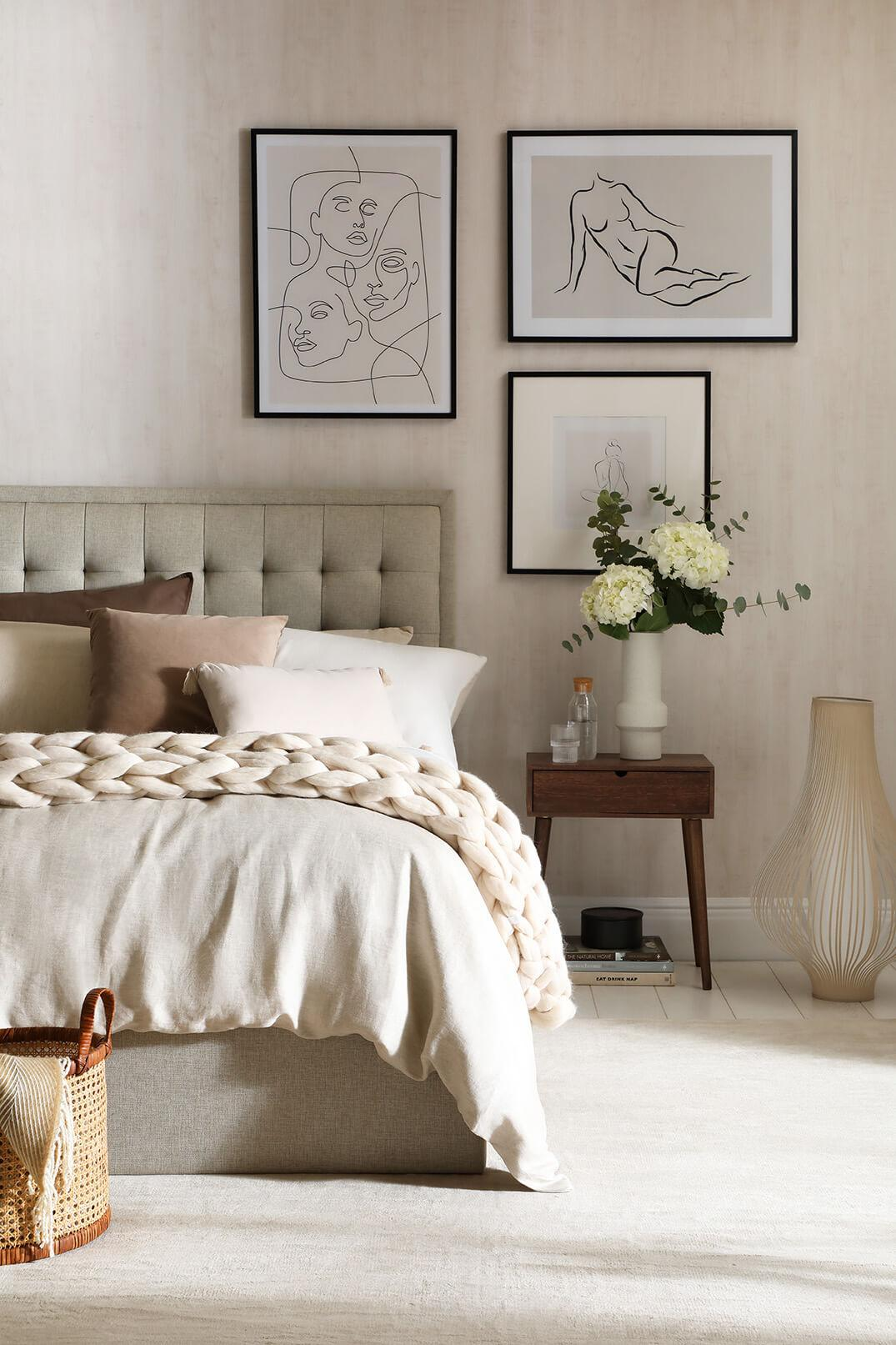 Cream tones are classy and comforting in the bedroom.
