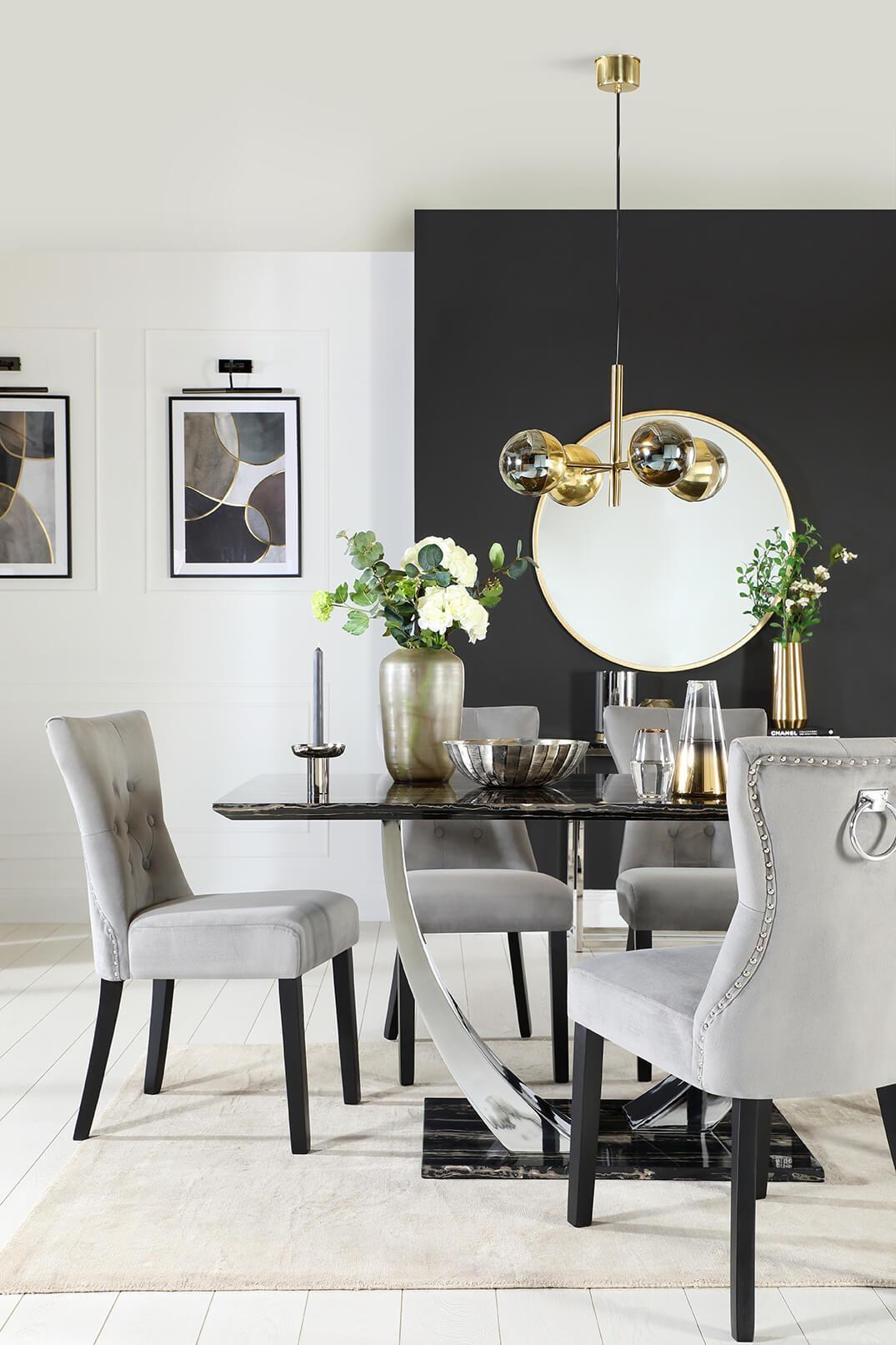 A striking pedestal table can be a conversation starter.
